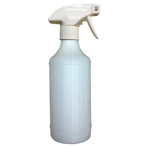 【お一人様3本まで】ガンボトル・スプレーボトル_500ml スプレー(トリガー):白色 ボトル:ナチュラル_キャニヨン【安心の国産・日本製】