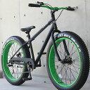 ファットバイク ビーチクルーザー 自転車 26インチ FATBIKE シマノ7段