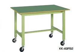 サカエ KK 軽量作業台 移動式 天板:アイボリー 本体:アイボリー 均等耐荷重:200kg【KK-38SB2I】