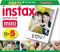 FUJIFILM<富士フイルム>インスタントカラーフィルムinstaxmini5パックINSTAXMINIKR5