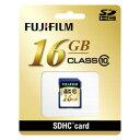 【メーカー欠品中 納期受注後約4週間】FUJIFILM<富士フイルム> SDHCカード Class10 16GB F SDHC-016G-C...