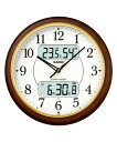 カシオ(CASIO) 壁掛け時計 濃茶木調 電波時計 ITM-800NJ-5JF 【送料無料】 【RCP】 02P03Dec16