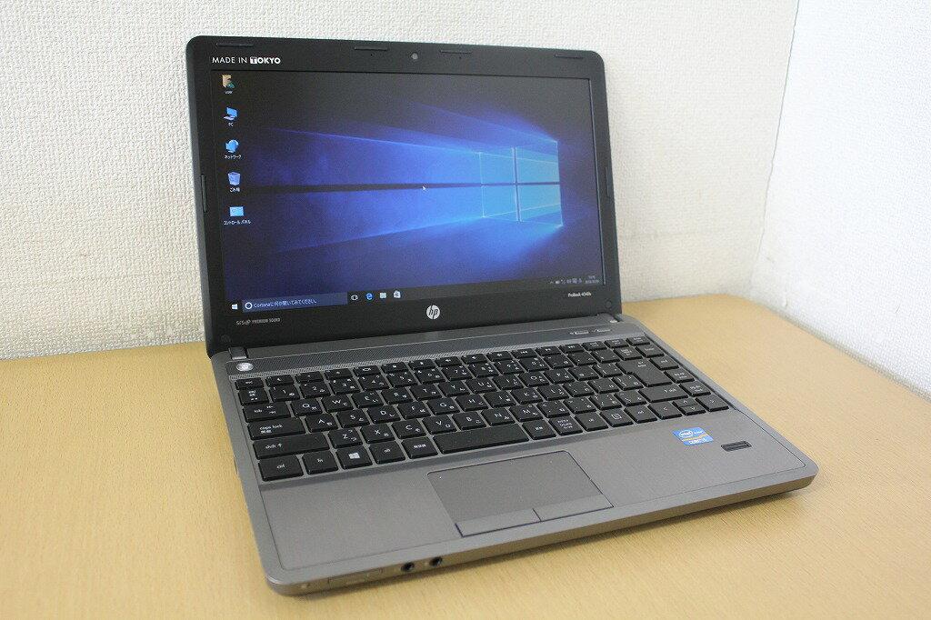 【中古】【Windows10搭載】【ドライブレスモデル】ワイド液晶で画面も広々!第三世代Corei5 3230M(2コア/4スレッド/2.6Ghz)搭載♪メモリ8Gへ増設済み!HDD320G搭載!hp 4340s『無線LAN搭載』『Windows10』『お買い得!通常品』