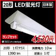 日本エコテック 【20形 ランプセット】 逆富士 1灯式 昼白色 LEDベースライト器具 逆富士器具 逆富士型器具 LED蛍光灯 直管 20W型 灯具 国内メーカー 【日本製】 ECB-V201 ECA-201002-N 関連商品