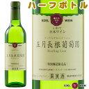 五月長根葡萄園 リースリングリオン白ハーフサイズ受賞ワインワインやや辛口エーデルワイン日本ワイン岩手