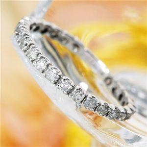 直送・K18WG(18金ホワイトゴールド)ダイヤリング エタニティリング(指輪)計0.5ct 125401 21号別商品の同時注文 ダイヤモンドリング 18金WG 0.5ctダイヤエタニティリング