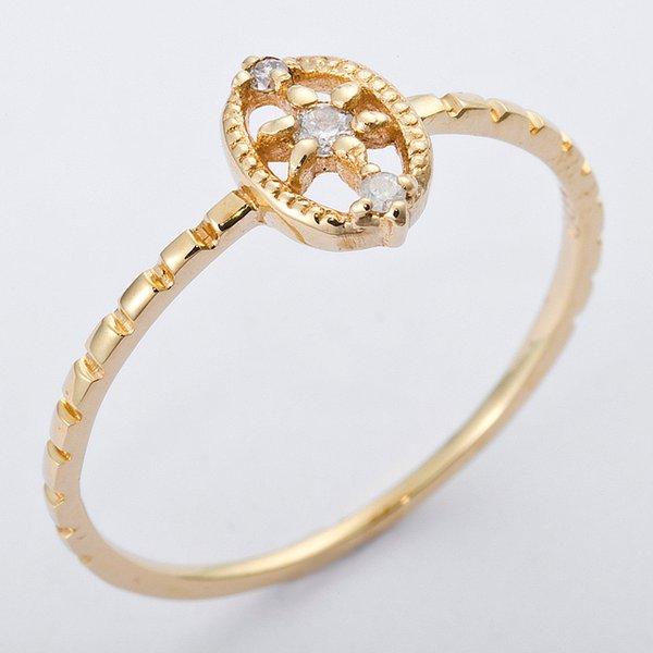 直送・ K10イエローゴールド 天然ダイヤリング 指輪 ダイヤ0.04ct 10号 アンティーク調 別商品の同時注文 ダイヤモンドリング 人気のアンティーク調カジュアルジュエリー【あたらしい】