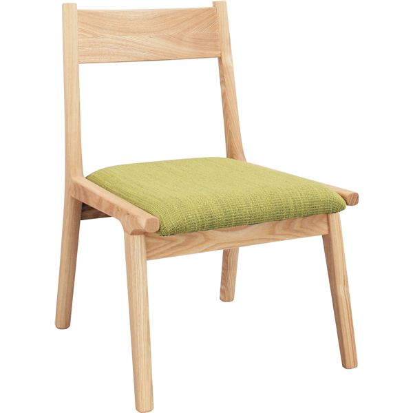 直送・ ダイニングチェア(モタ) 木製(天然木) HOC-331GR グリーン(緑) 別商品の同時注文 天然木使用のシンプルで使いやすい椅子/チェアー 1人掛け