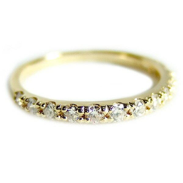 直送・ 【鑑別書付】K18イエローゴールド 天然ダイヤリング 指輪 ダイヤ0.30ct 11.5号 ハーフエタニティリング 別商品の同時注文 18金 ダイヤモンドリング