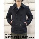 直送・代引不可USタイプ海軍 ピーコート JC043YN ブラック 36( S) 【 レプリカ 】 別商品の同時注文不可