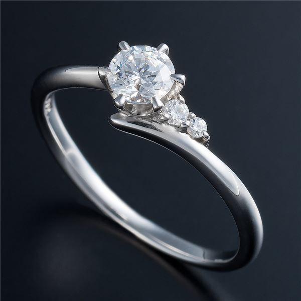 直送・Dカラー・VVS2・EX Pt0.3ct ダイヤリング サイドダイヤモンド (鑑定書付き) 12号別商品の同時注文 婚約指輪・ブライダル・エンゲージリングに!Dカラー・VVS2・エクセレントカットダイヤモンドリングおおさかふ