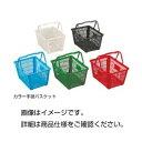 直送・代引不可(まとめ)カラー手提バスケット MY24-緑【×3セット】別商品の同時注文不可