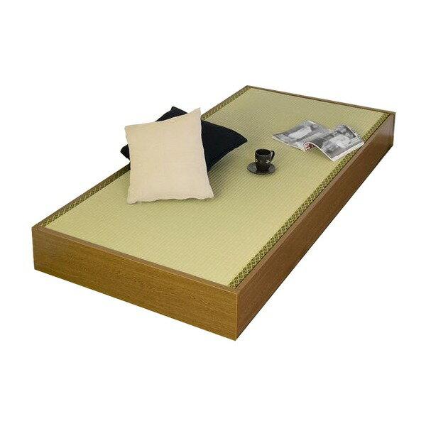 直送・国産 ヘッドレス畳ベッド 【セミシングル】 収納スペース付き【】別商品の同時注文 い草の香りが爽やか!すのこ床で通気性の良いセミシングルベッド
