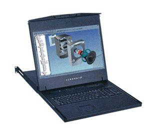 【キャンセル不可】W119-MIP813E 「直送」【代引不可・他メーカー同梱不可】 オースティンヒューズ 1U 19インチワイドスクリーンLCDモニター テンキー付キーボード ドロアー タッチパッドマウス PS/2&USBコンボ 8ポート Matrix-KVMスイッチ 2コンソール IPユーザー1