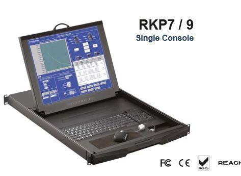 【キャンセル不可】RKP9-M803E 「直送」【代引不可・他メーカー同梱不可】 オースティンヒューズ 1U 19インチLCDモニター キーボード ドロアー 光学式ミニマウス PS/2&USBコンボ 8ポート Matrix-KVMスイッチ 3コンソール