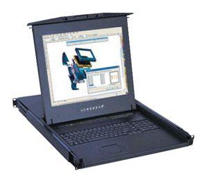 【キャンセル不可】RKP117-M1602NB 「直送」【代引不可・他メーカー同梱不可】 オースティンヒューズ 1U 17インチLCDモニター 106キーキーボード ドロアー トラックボールマウス PS/2&USBコンボ 16ポート Matrix-KVMスイッチ 2コンソール