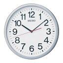 ショッピング電波 SEIKO KX229S 電波掛時計 直径361×48 P枠 銀色メタリック