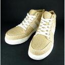 ショッピング安全靴 4573211398175 GKS−11 安全靴ミッドスニーカー ズタブクロ風 ベージュ 25.5