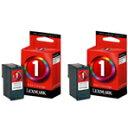 【送料無料】LEXMARK インクカートリッジ(標準/#1カラー)2個パック TPJPN05J [TPJPN05J]
