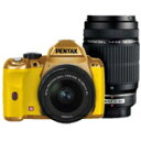 PENTAXデジタル一眼レフカメラ・ダブルズームキット(オーダーカラーボディ:ゴールド/グリップ:イエロー)K-rK-RWキットゴ-ルド/イエロ-103