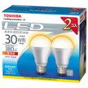 【ポイント10倍(〜9/8AM09:59まで)】東芝 LED電球 E26口金 全光束380lm(5.6W一般電球タイプ) 電球色 2個入り E-CORE LDA6L-H-2P [LDA6LH2P]