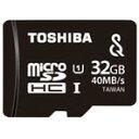 SeeQVault対応。【ポイント10倍(7/26 00:00〜)】【送料無料】東芝 高速microSDHC UHS-Iメモリカード(Class1対応・32GB) 防水性能 MU-SV032G [MUSV032G]
