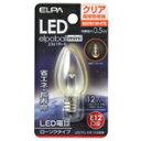 エルパ LED電球 E12口金 全光束18lm(0.5Wローソクタイプ相当) クリア電球色 1個入り elpaball mini LDC1CL-G-E12-G306 [LDC1CLGE12G306]