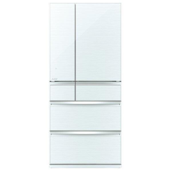 三菱 700L 6ドアノンフロン冷蔵庫 置けるスマート大容量 クリスタルホワイト MR-WX70E-W [MRWX70EW]【RNH】【SPPS】