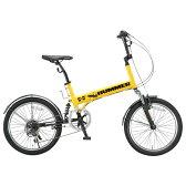 【送料無料】OTOMO 20インチ折りたたみ自転車 HUMMER イエロー HUMMERFDB206WSUSイエロ- [HUMMERFDB206WSUSイエロ-]【0722retail_coupon】