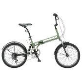 【送料無料】OTOMO 20インチ折りたたみ自転車 HUMMER マットグリーン HUMMERFDB206WSUSマツトグリ-ン [HUMMERFDB206WSUSマツトグリ-ン]【0722retail_coupon】
