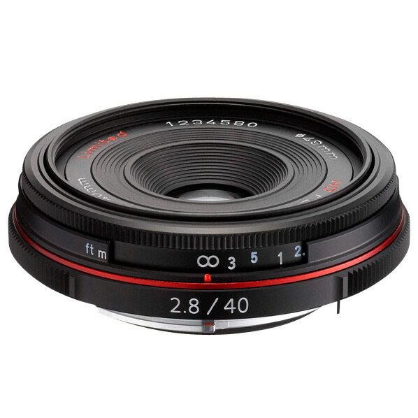 【送料無料】PENTAX パンケーキレンズ HD PENTAX-DA 40mmF2.8 Limited ブラック HD DA40MMF2.8 リミテツドBK [HDDA40MMF28リミテツドBK]