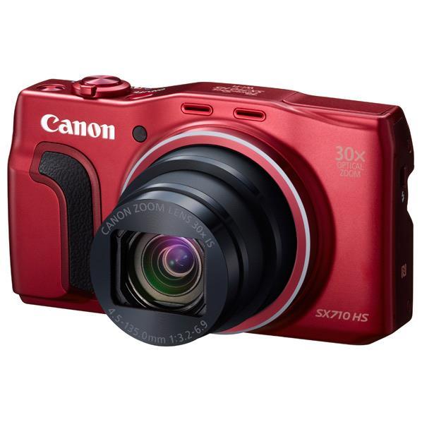 【送料無料】キヤノン デジタルカメラ PowerShot レッド PSSX710HSRE …...:edion:10219762