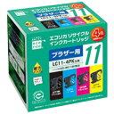 エコリカ リサイクルインクカートリッジ 4色パック 4色セット(ブラック/シアン/マゼンタ/イエロー) ECI-BR114P/BOX [ECIBR114PBOX]