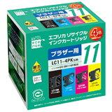 エコリカ インクカートリッジ(ブラザー互換製品) 4色セット(ブラック/シアン/マゼンタ/イエロー) ECI-BR114P/BOX [ECIBR114PBOX]