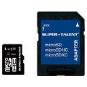 SUPERTALENT 高速microSDHCメモリーカード(Class 10対応・16GB) ST16MSU1P [ST16MSU1P]