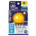 エルパ LED電球 E26口金 1.4W装飾電球 ミニボールタイプ 黄色 elpaball mini LDG1Y-G-GWP253 [LDG1YGGWP253]
