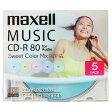 マクセル 音楽用CD-R 80分 5枚入り Sweet Color Mix Series CDRA80PSM.5S [CDRA80PSM5S]