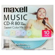 マクセル 音楽用CD-R 80分 10枚入り Sweet Color Mix Series CDRA80PSM.10S [CDRA80PSM10S]【05P27May16】