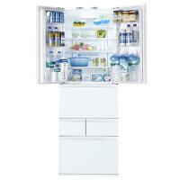 東芝458L6ドアノンフロン冷蔵庫クリアシェルホワイトGR-H460FV(ZW)
