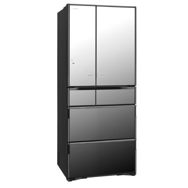 【送料無料】日立 615L 6ドアノンフロン冷蔵庫 真空チルド クリスタルミラー R-X6200F-X [RX6200FX]