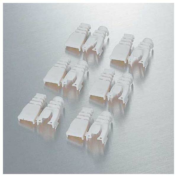 エレコム 後付けタイプコネクタ保護カバ-(6個) LD-ABBE6 [LDABBE6]