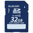 エレコム SDHCメモリカード(Class4対応・32GB) MF-FSDH32GC4R [MFFSDH32GC4R]【KK9N0D18P】【NYOA】