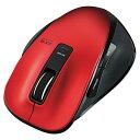 エレコム 無線BlueLEDマウス(Mサイズ) EX-G レッド M-XG1BBRD [MXG1BBRD]