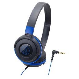 オーディオテクニカ 密閉ヘッドバンド型ヘッドフォン ブラックブルー ATH-S100BBL [ATHS100BBL]