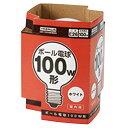 ヤザワ 100W形・E26口金 ボール電球 ホワイト 1個入り GW100V90W95 [GW100V90W95]