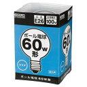 ヤザワ 60W形 E26口金 ボール電球 クリア 1個入り GC100V57W95 GC100V57W95
