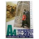 オーム電機 ラミネーターフィルム 20枚入り LAM-FA4203 [LAMFA4203]【KK9N0D18P】