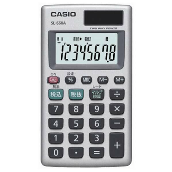 カシオ 電卓 SL-660A-N [SL660AN]