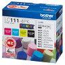 【送料無料】ブラザー インクカートリッジ 4色パック LC111-4PK [LC1114PK]【0923_flash】