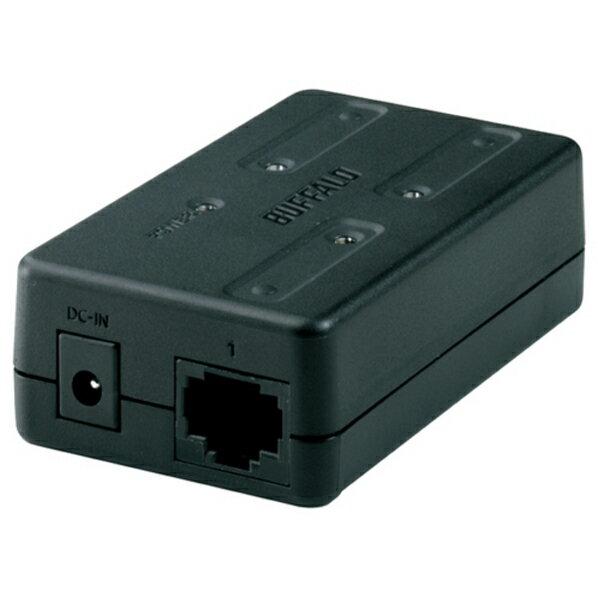 バッファロー 10/100M 3ポート スイッチングHub ブラック ブラック LSW-TX-3EP/CUB [LSWTX3EPCUB]【KK9N0D18P】